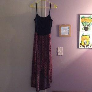 Rue21 Dresses - A spaghetti strap dress slit up the middle.